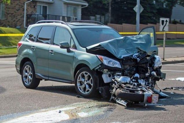 suv in a car crash