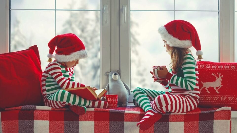 Children enjoying Christmas